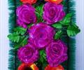 Полянка с цветами ритуальная А 0033