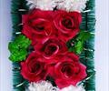 Полянка с цветами ритуальная А 0043