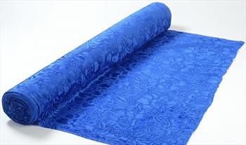 Ткань бархат набивной синий.